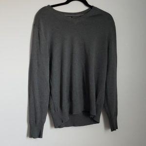 Banana Republic gray v-neck sweater